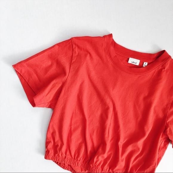 4d2c420294e Aritzia Tops | Wilfred Red Cropped T Shirt | Poshmark